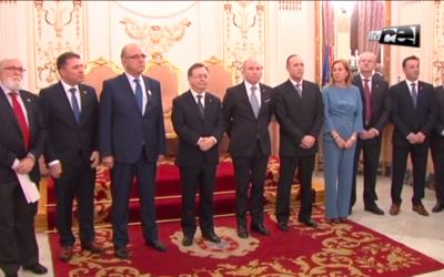 Recepción del Presidente de la Ciudad Autónoma de Ceuta a los Presidentes de Colegios Médicos