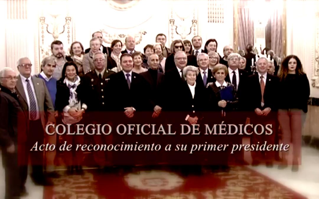 Acto de Reconocimiento al Primer Presidente del Colegio Médico