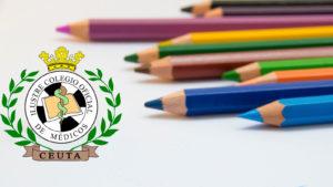 lápices y log del colegio de médicos de Ceuta
