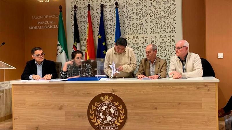 José Enrique Roviralta es reelegido como presidente del Colegio de Médicos de Ceuta