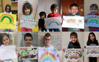 El Colegio de Médicos de Ceuta recibe los dibujos, cartas y mensajes de ánimo de los niños de Melilla