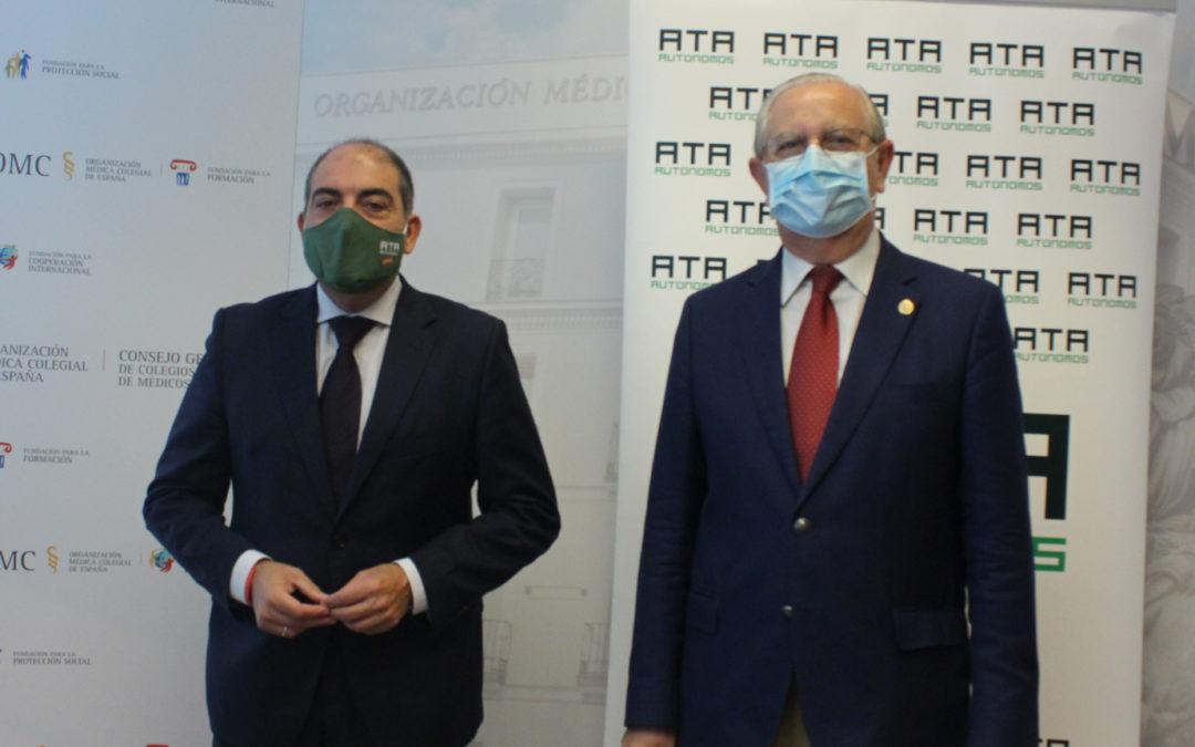 El CGCOM y ATA colaboran en beneficio de los médicos autónomos