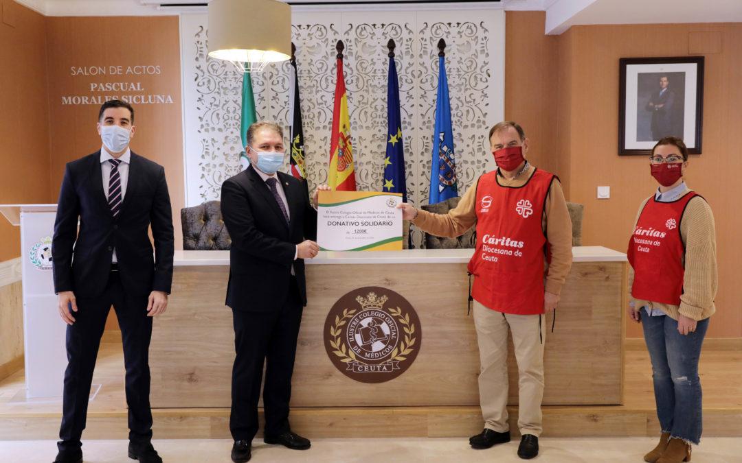 El Colegio de Médicos dona el presupuesto de su Cóctel de Navidad a Cáritas Diocesana de Ceuta