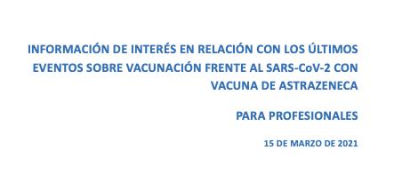 Información de interés sobre la vacuna Astrazeneca
